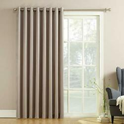 Door Curtain Panel Sliding Glass Patio Blinds with Pull Wand - 100'' x 84''