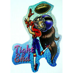 Cute Sporty Girl Holo Prism Vending Sticker Decal Glossy 2003 Football