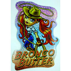 Cute Sporty Girl Holo Prism Vending Sticker Decal Glossy 2003 Rodeo