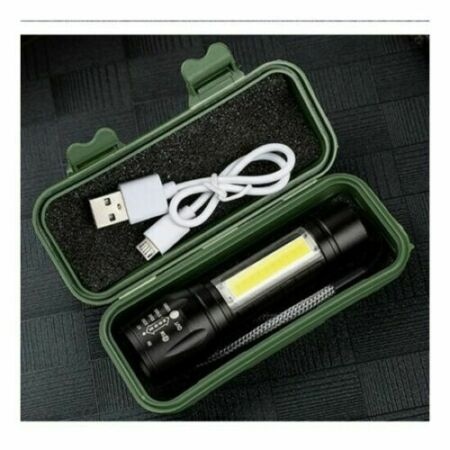 img-LED Tactical Flashlight Usb Rechargeable Torch Lamp For Hunting Climbing Camping