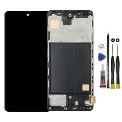 For Samsung Galaxy A51 2019 SM-A515F LCD Touch Screen Display Digitizer Frame