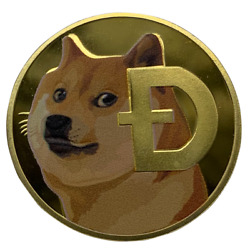 Doge Gold Plated Physical Crypto Coin D