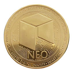 NEO Gold Plated Crypto Physical Coin