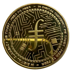 FILECOIN Gold Plated Crypto Physical Coin