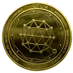 QTUM Gold Plated Physical Crypto Coin