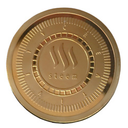 STEEM Gold Plated Crypto Physical Coin