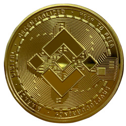 BINANCE Gold Plated Crypto Physical Coin