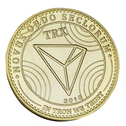 TRON Gold Plated Crypto Physical Coin