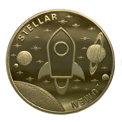 Stellar Lumen Gold Plated Coin Miner Cryptocurrency