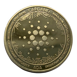 Cardano ADA Gold Plated Coin Miner Cryptocurrency