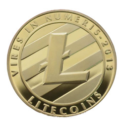 Litecoin Gold Plated Coin Miner Cryptocurrency