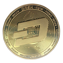 DASH Gold Plated Coin Miner Cryptocurrency
