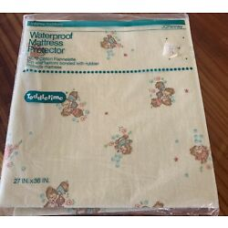 NOS Vintage Toddletime Waterproof Mattress Protector  JCPenny  27 x 36