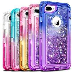 Shockproof Case For iPhone 12 11 Pro Max Xr X 6 6s 8 7 Plus Liquid Glitter Cover