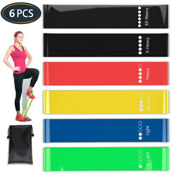 Workout Resistance Bands Loop Fitness Yoga Booty Leg Exercise Strength Pilates