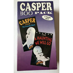 Casper The Friendly Ghost 2 Tape Set Animated Cartoons VHS Brentwood Home Video