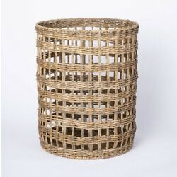 New Large Manmade Outdoor Rattan Basket Tan Threshold designed with Studio McGee