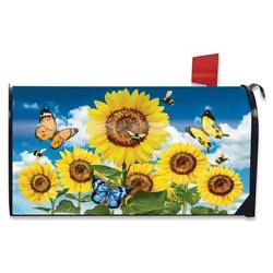 Sunflowers and Bees Summer Magnetic Mailbox Cover Floral Standard Briarwood Lane