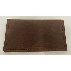 BISON LEATHER CHECKBOOK COVER  US MADE FREE SHIPPING AND FREE DUPLICATE DIVIDER