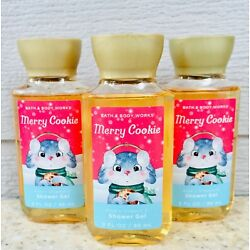 3 MERRY COOKIE Shower Gel Body Wash 3oz LOT of x3