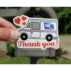 Thank You Sticker for USPS Mail Carrier, Waterproof Stickers, Thank You Postal