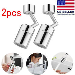 2Pc 720° Rotatable Faucet Sprayer Head Kitchen Large Angle Rotating Sink Aerator