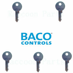 5 Ronis 455 Keys Fit Baco 22mm and 30mm Electric Switch and Schneider & Siemens