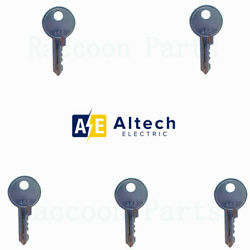 5 Altech Electric Switch Keys Ronis 455 and Siemens Baco Electric ( 22mm )