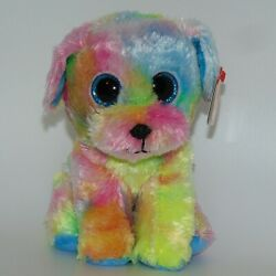 New!  2021 Ty Beanie Boos MAX Autism Awareness Day 4/02 Tie Dyed Dog 6