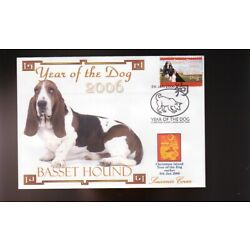 BASSET HOUND YEAR OF THE DOG STAMP SOUVENIR COVER 3