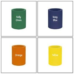 4 Original Style Old School-Thick Foam Can & Bottle Coolers Koozies-Assorted
