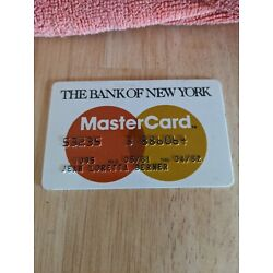 Expired Master Card  The Bank of New York. 1982