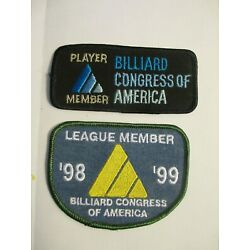 Vintage BILLIARD CONGRESS OF AMERICA Billiard collectable patches 2 1990's New