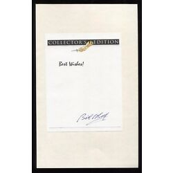 Bill O'Reilly Signed Book Page Cut Autographed Cut Signature