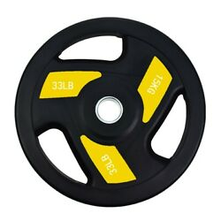 Home Strength Gym Fitness Olympic Rubber Bumper Weight Plates Plate 15KG
