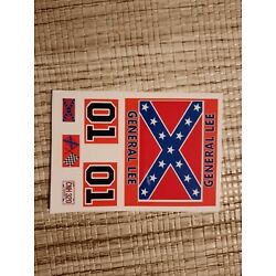 General Lee 1:18 scale water slide decals Dukes Of Hazzard white backing