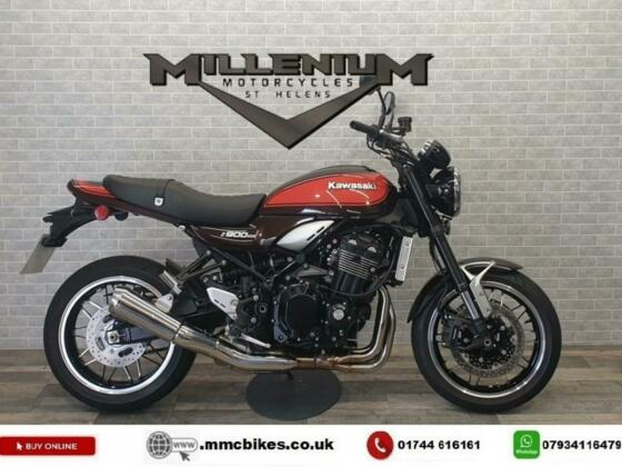 2018 (18) KAWASAKI Z900 RS FINISHED IN CANDYTONE BROWN AND ORANGE