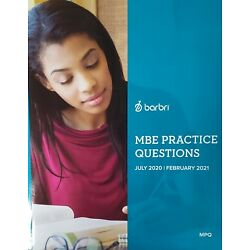 2021 Barbri Bar Exam MBE Practice Questions  - FREE PRIORITY SHIP