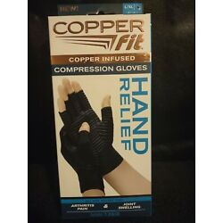 Copper Fit Copper Infused Compression Gloves ~1 Pair of L/XL Gloves~ Unisex