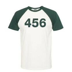 Squid Game Halloween Costume Coplay Tee Shirts Player Tag Numbers Unisex Tshirt