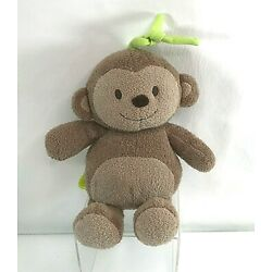 Carters MONKEY Brown Musical CRIB PULL Just One You Green Tie Plush BRAHMS Baby