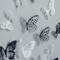 36pcs 3D Crystal Butterfly Wall Stickers Creative Butterflies with Diamond Home