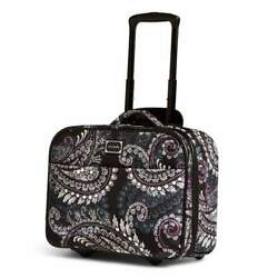 Vera Bradley On A Roll Work Bag Paisley Petals Rolling Suitcase NWT