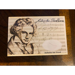 Beethoven Hair Strand Lock Piece Speck Relic unsignedMusic Composer museum