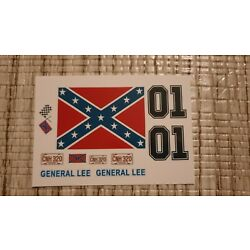 General Lee 1:24 1:25 scale water slide decals Dukes Of Hazzard clear backing