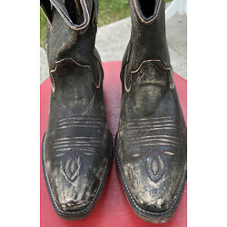 Roper  Short Stuff  Cowboy Boots- distressed brown leather- size 7.5- Brand New!