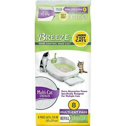 Tidy Cats Breeze Multi-Cat Pads Refill Pack, Count of 8