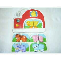 Leap Frog Magnetic Fridge Farm w/5 Complete Animal Pairs - Complete & Working