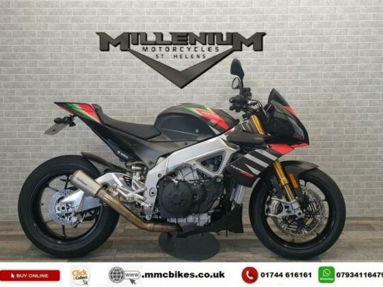 2021 (21) APRILIA TUONO V4 1100 FACTORY FINISHED IN GREY WITH 1617 MILES