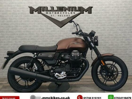 2019 (19) MOTO GUZZI V7 III STONE NIGHT PACK FINISHED IN BRONZE WITH 514 MILE...